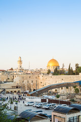 Western Wall and Rock of the Dome in Jerusalem