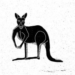 Hand drawn kangaroo