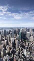 Manhattan Skyline from the Empire State Building Observation Deck. New York, USA,