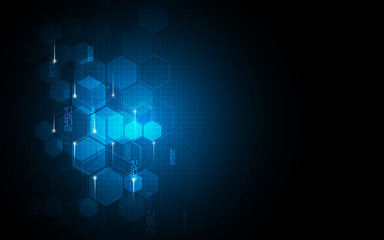 vector abstract background hexagons pattern sci fi tech innovation concept design