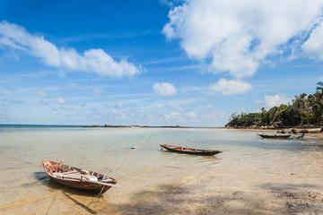 Fisherman boat with blue sky in koh phangan, Surat Thani, Thaila
