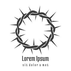 Jesus Crown of Thorns Logo