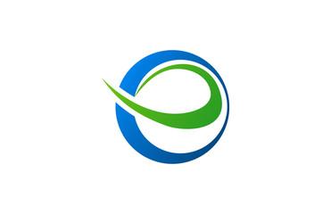 round letter e logo