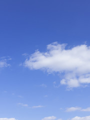 空と雲 青空