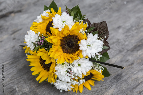 Brautstrauss Aus Sonnenblumen Stock Photo And Royalty Free Images