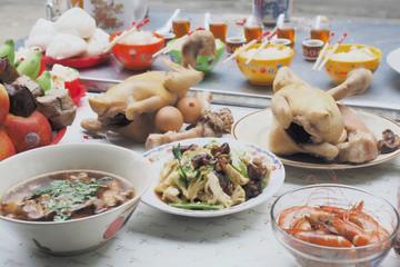 Chinese New Year's Day worship