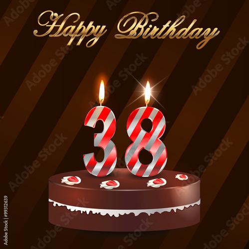 Поздравление с днем рождения с 38