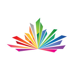 Colorful Diamond Spark Logo
