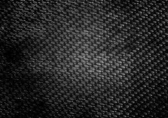 Black and white pattern on Old clothes close up