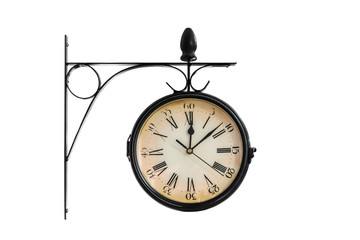 Clock showing 12:08 on white background