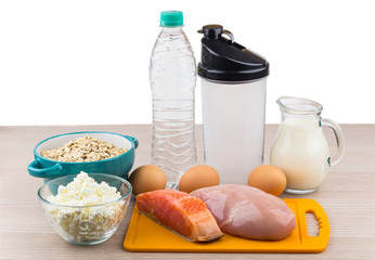 Foods rich in protein and carbohydrates