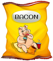 Bag of bacon chips