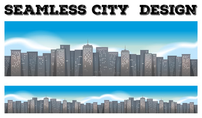 Seamless buildings in the city