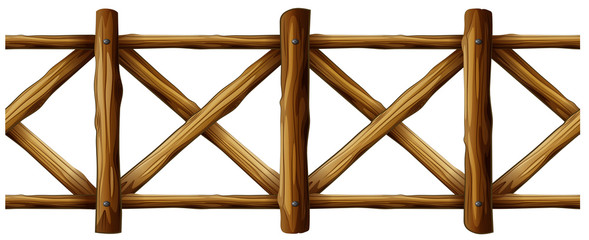 Wooden fence in simple design
