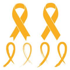 Gold ribbon - childhood cancer