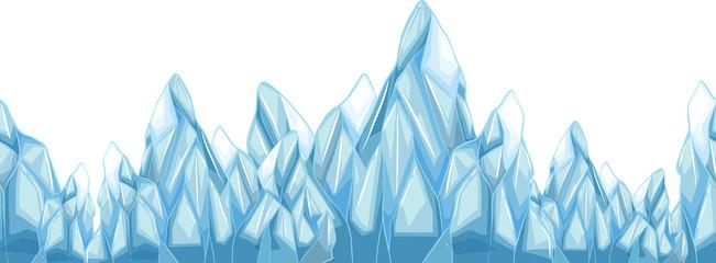 Seamless iceberg with sharp points