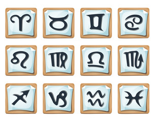 Zodiac Signs And Icons Set