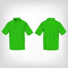 Light green polo shirt isolated vector