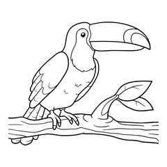 Coloring book (toucan)