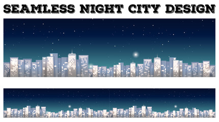 Seamless city at night design