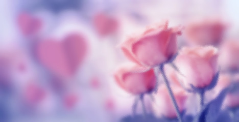 Glass texture with Happy valentine's day, fine daisy color tone design, Blur and Select focus background