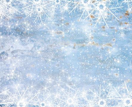 Light snow Christmas background for design