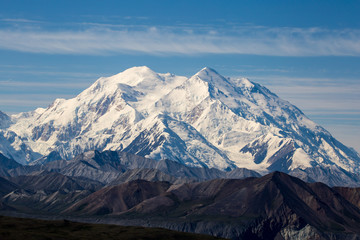 Denali Mountain Mckinley from visitor center alaska