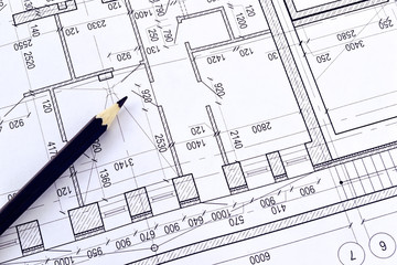 Drawing a floor plan of the building