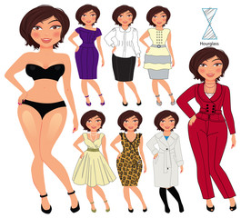 fashion style for hourglass
