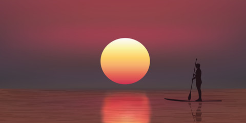 Paddle-Vacances-Coucher de soleil