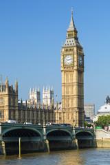 Fond de hotte en verre imprimé Londres bus rouge The Houses of Parliament and Big Ben, London, UK