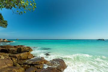 Wall Mural - Beautiful Stone beach at Tha Cai Island,Thailand