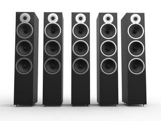 Modern hi-tech composite speakers