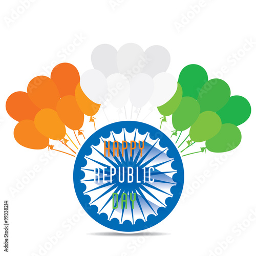 Happy republic day greeting card design vector stock image and happy republic day greeting card design vector m4hsunfo