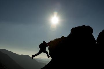 maceraperest tırmanıcı ve dağ manzaraları