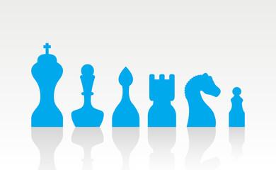 set chess figures.