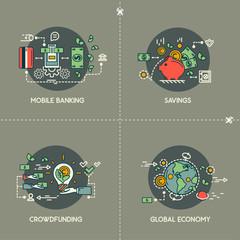 Mobile banking, savings, crowdfunding, global economy