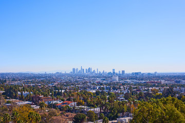 Skyline Los Angeles from Beverly Hills