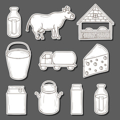 Milk production stickers