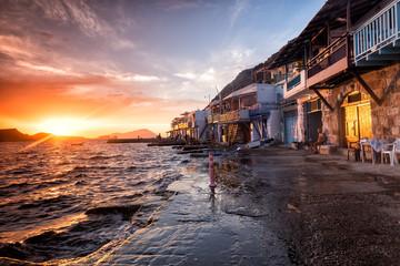Obraz The typical little village of Klima in Milos island Greece at su - fototapety do salonu