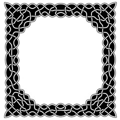 Black and white round in the center of the frame with patterns i