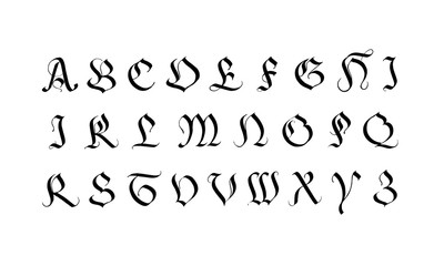 Alphabet en rococo.