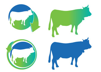 cow silhouettes icons