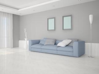 Simple modern living room.