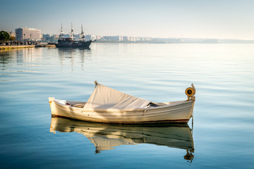 Boat in the sea near Thessaloniki, Greece