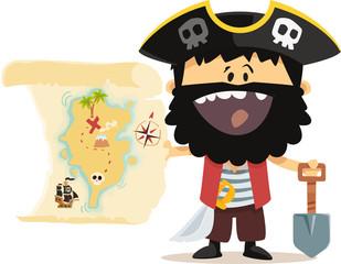 Pirate et carte au trésor