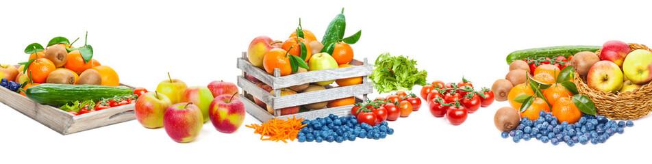 Owoce i warzywa, odizolowane jako transparent