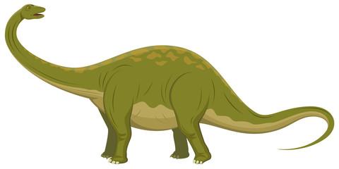 Vector illustration of a brontosaurus dinosaur.