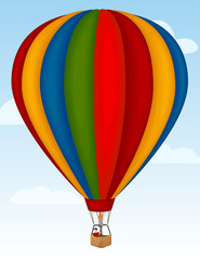 Vector illustration of a hot air balloon.