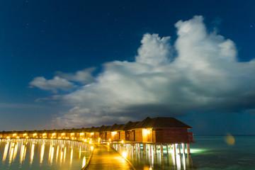 Sunset on sea in Maldives